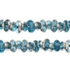 Bow Beads (Farfalle) 3.2x6.5mm Aqua Labrador Transparent